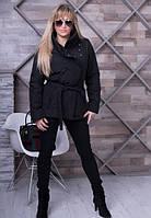 Женская черная   весенняя куртка Dakota   ТМ VICCO 44-54 размеры