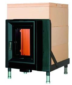 Массивная теплоаккумулирующая печь Brunner HKD 5.1/20 GOF 57 x 57 cm
