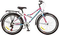 "Велосипед 24"" Discovery FLINT  14G  Vbr рама-14"" St бело-сине-розовый (м)  с баг зад St с кр St 2018"