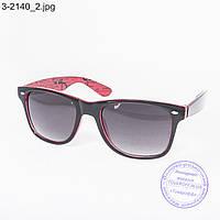 Очки солнцезащитные Вайфарер (Wayfarer) черно-красные - 3-2140