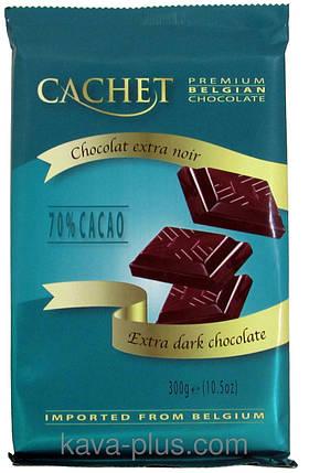 Шоколад Cachet (Кашет) черный 70% какао Бельгия 300г, фото 2
