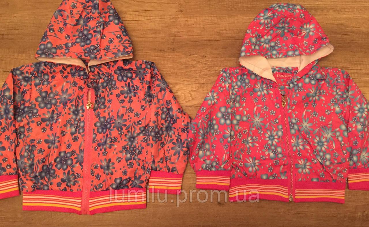 """Легкая ветровка в цветочек на девочек 1-4 года - Интеренет-магазин детской одежды """"LumiLu"""" в Хмельницком"""