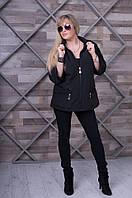 Женская черная    весенняя куртка  BOLERO     ТМ VICCO 46-56 размеры