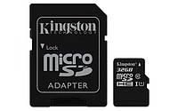 Карта памяти Kingston micro SDHC 32GB class 10+SD