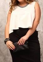 """ПП Украина Блузка  большого размера """"Джем"""" , блуза до 72 размера  и более"""