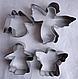 """Вырубка металлическая """"Ангелы"""" набор из 4 штук, фото 3"""