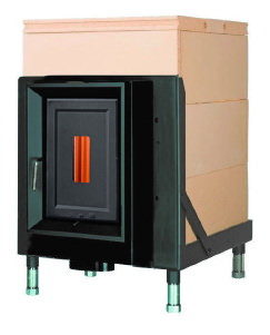 Массивная теплоаккумулирующая печь Brunner HKD 5.1/20 cast iron doors GOF 57 x 57 cm