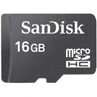 Карта памяти SanDisk micro SDHC 16GB class 10
