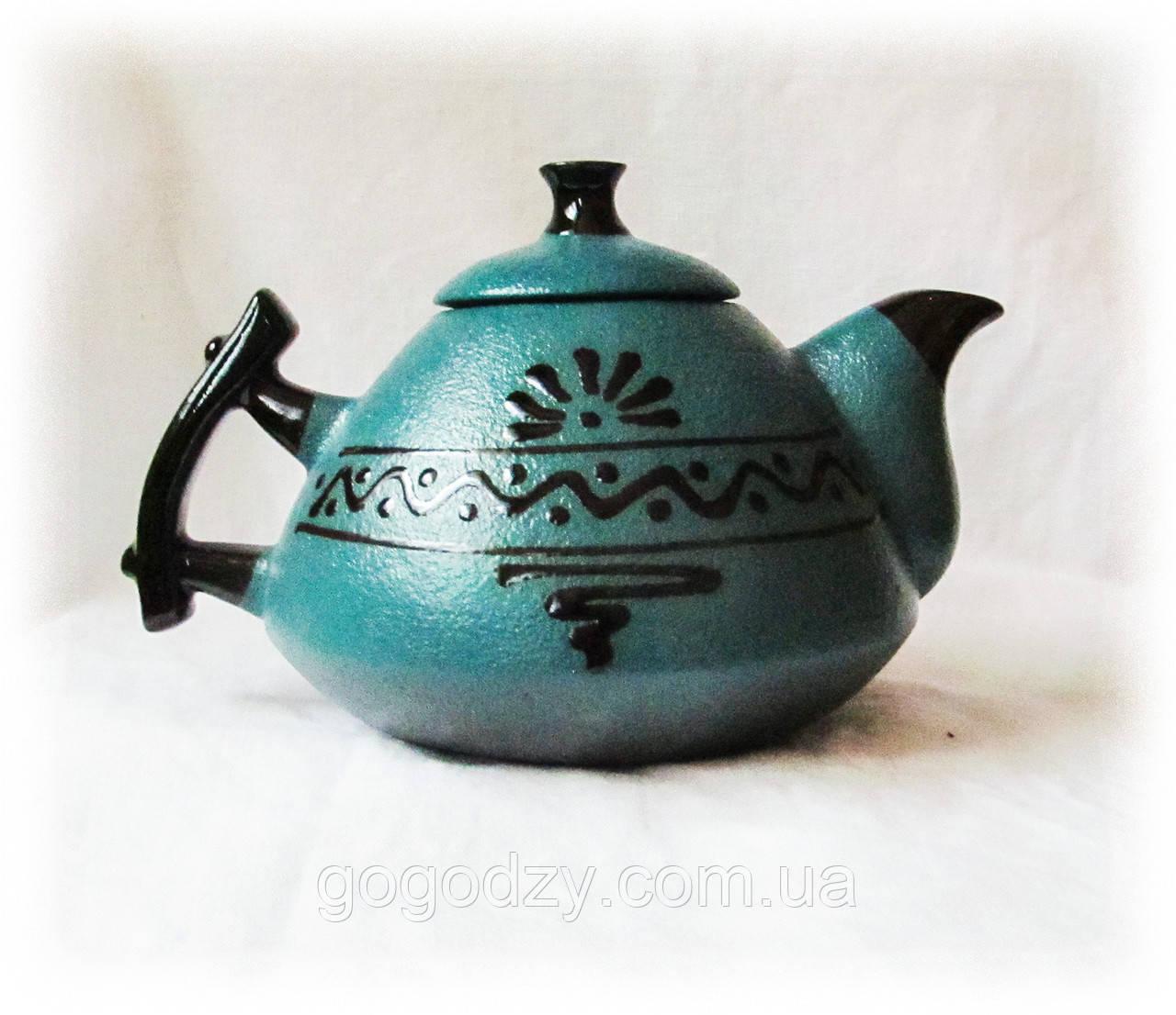 """Чайник """"Ґорґани"""" зелений"""