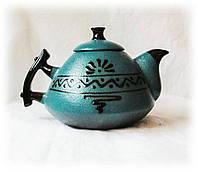 """Чайник """"Ґорґани"""" зелений, фото 1"""