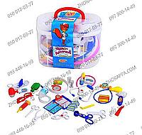 Доктор M 0461 U/R, набор в чемоданчике 22*17*12 см, 36 предметов, свет, набор для юного доктора