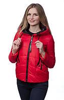 Женская куртка - парка на холлофайбере SYMONDER M, Красный