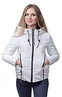 Женская куртка - парка на холлофайбере SYMONDER S, Белый