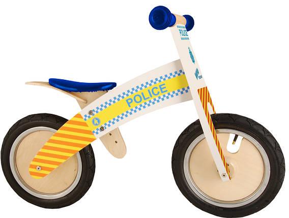 """Беговел 12"""" Kiddi Moto Kurve деревянный, полицейская машина, фото 2"""