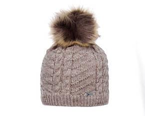 Детская теплая вязаная шапочка для девочки подростка ACHTI Польша, фото 3