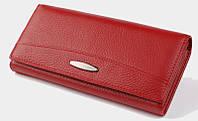 Длинный кожаный кошелек Tailian T 0826 red