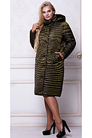 Женское демисезонное пальто СR-10566 топаз Caramella 52-60 размеры