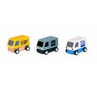 Фургоны Plan Тoys (набор из 3 шт)