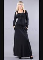 Длинное платье в пол от Полиит Италия с болеро