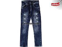 Стильные рваные джинсы для девочки 8,9,10,11,12 лет  213170