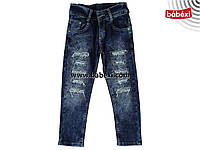 Стильные рваные джинсы для девочки 3,4,5,6,7 лет. 213167