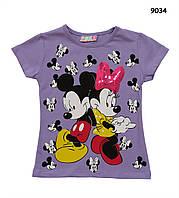 Футболка Minnie&Mickey Mouse для девочки.  7-8 лет, фото 1