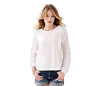 Белоснежная легенькая хлопковая блуза от тсм Tchibo размер 48-50 евро наш 54-56