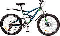 "Велосипед 26"" Discovery CANYON AM2 14G  DD  рама-19"" St красно-черный  с крылом Pl 2017"
