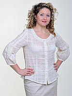 Блуза женская летняя из хлопка р 48, 50 марлевка