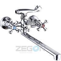 Смеситель для ванны ZEGOR латунный Ручка DFU WSL725