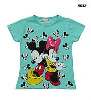 Футболка Mickey&Minnie Mouse для девочки. 86-92;  110-116 см, фото 1