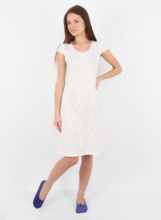 Практичная хлопковая женская ночная сорочка. Есть большие размеры