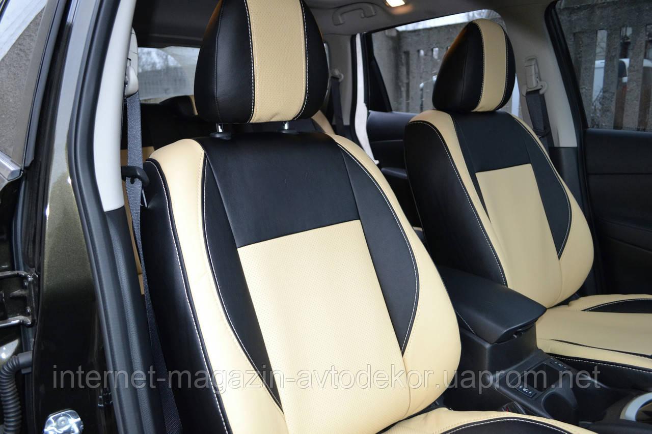 Чехлы из экокожи или экокожа+ткань Hyundai Santa Fe 2007-12г.