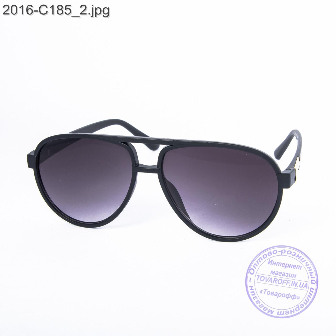 Солнцезащитные очки унисекс - черные - 2-16-C185