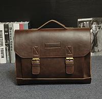 Мужской кожаный портфель Модель - 2130, фото 4