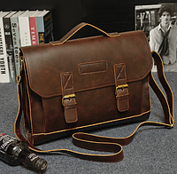 Мужской кожаный портфель Модель - 2130, фото 6