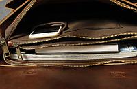 Мужской кожаный портфель Модель - 2130, фото 7