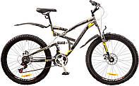 "Велосипед 26"" Discovery CANYON AM2 14G  DD  рама-19"" St серо-черно-желтый (м)  с крылом Pl 2017"