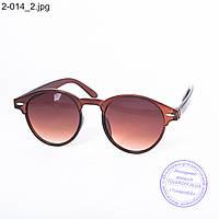 Солнцезащитные очки унисекс - коричневые - 2-014