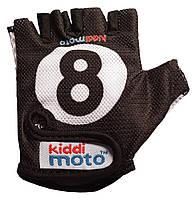 Перчатки детские Kiddi Moto бильярдный шар, чёрные, размер S на возраст 2-4 года