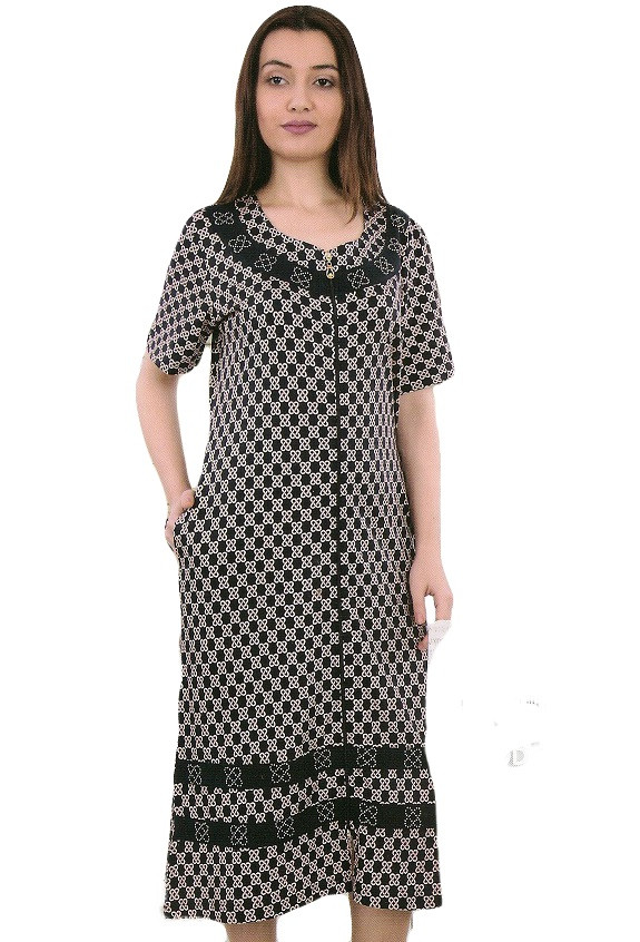 Красивый женский халат из вискозы с 50-56