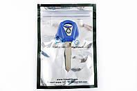 """Ключ замка зажигания (заготовка)   Yamaha JOG   (с эмблемой, длинный, синий)   """"KOMATCU"""""""