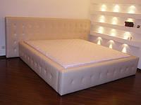 Кровать с мягким изголовьем Камила