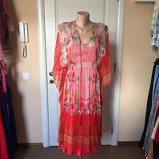 Женское платье- туника летнее цветное яркое шелковое MARKSHARA, фото 2
