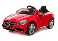 Эл-мобиль T-799 Mercedes S63 AMG RED легковая на р.у. 6V7AH с MP3 120*70*52 ш.к. /1/