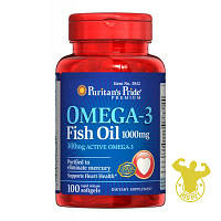 Жирные кислоты Puritan's Pride Omega-3 Fish Oil от Puritan's Pride