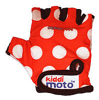 Перчатки детские Kiddi Moto красные в белый горошек, размер S на возраст 2-4 года