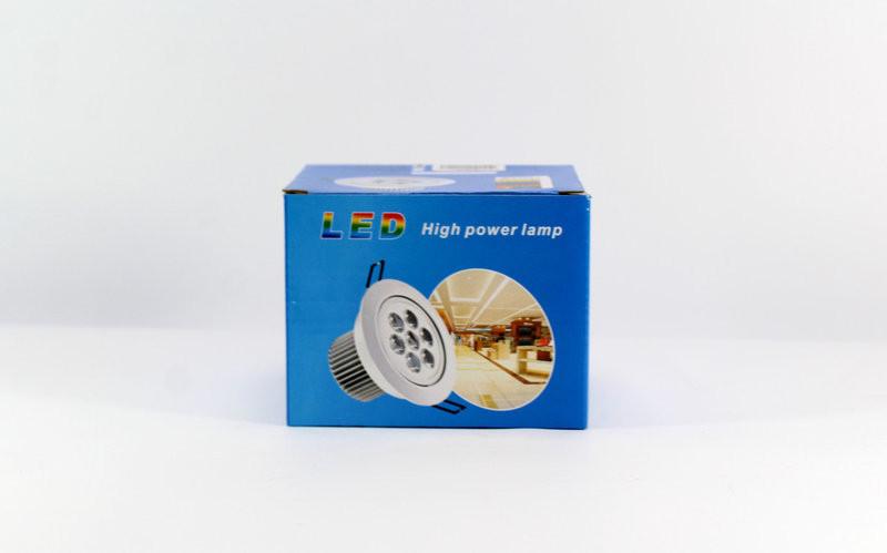 Лампочка LED LAMP 9W Врезная круглая точечная 1404 (30)