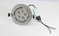 Лампочка LED LAMP 5W Врезная круглая точечная 1402 (50), фото 1