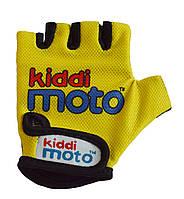 Перчатки детские Kiddi Moto неоновые жёлтые, размер S на возраст 2-4 года